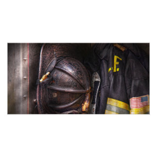 Fireman - Worn and used Photo Card Template