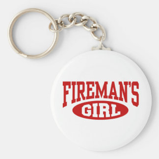 Fireman's Girl Key Ring