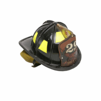 Fireman's Helmet Magnet Photo Sculpture Magnet