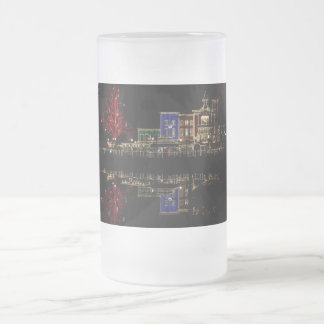 Firemans Landing Christmas Frosted Glass Beer Mug