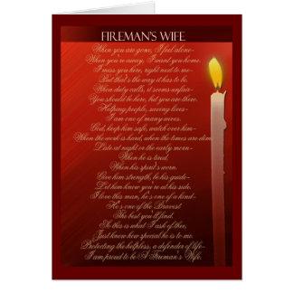 Fireman's Wife ... Greeting Card
