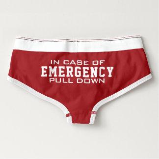 Fireman's Wife | In Case Of Emergency Pull Down Briefs