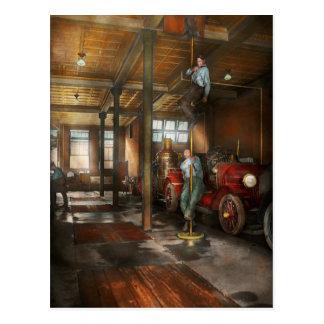 Firemen - Answering the firebell 1922 Postcard
