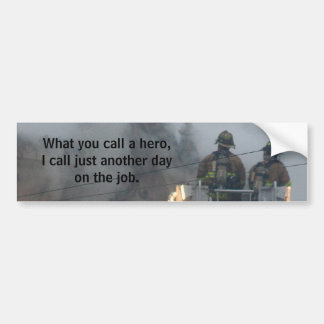 firemen bumper sticker