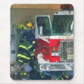 Firemen - Inside the Fire Station Mousepad