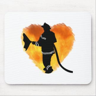 Firemen Love Flames Mouse Pads