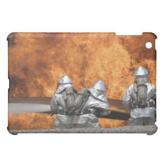 Firemen neutralize a fire cover for the iPad mini