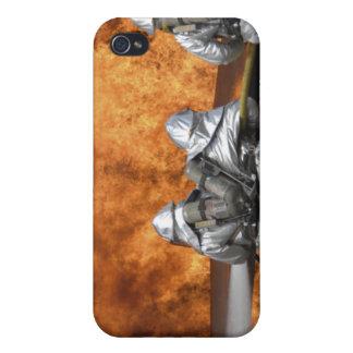 Firemen neutralize a fire iPhone 4 case