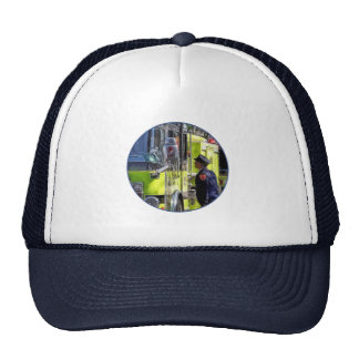 Firemen Talking Trucker Hat