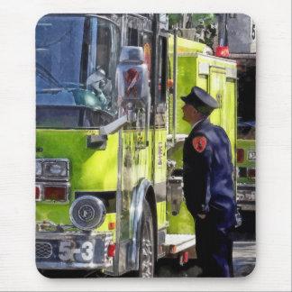 Firemen Talking Mouse Pad