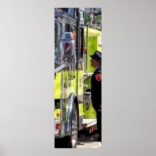 Firemen Talking Poster
