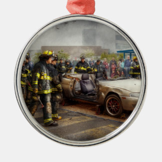 Firemen - The fire demonstration Christmas Ornament