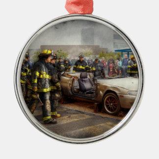 Firemen - The fire demonstration Christmas Ornament