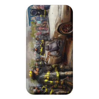 Firemen - The fire demonstration iPhone 4 Cover