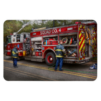 Firemen - The modern fire truck Rectangular Photo Magnet