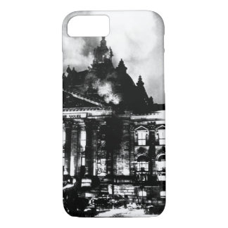 Firemen work on the burning Reichstag_War image iPhone 7 Case