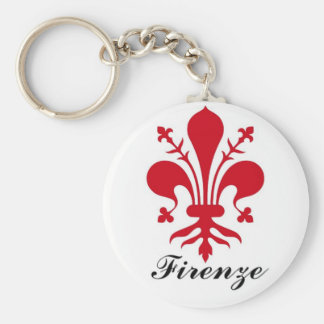 Firenze Basic Round Button Key Ring