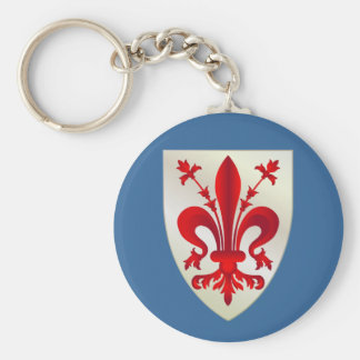 Firenze (Florence) Basic Round Button Key Ring