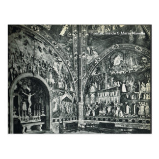 Firenze,Florence,  Inside S.Maria Novella Postcard