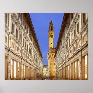 Firenze Galeria degli Uffizi Florence Italy Poster