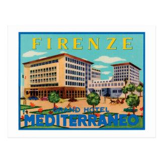 Firenze Grand Hotel Mediterraneo Postcard