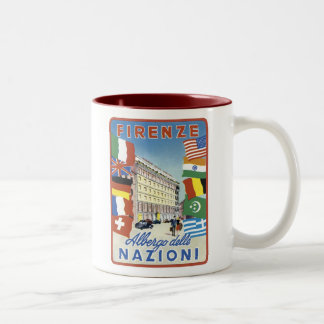 Firenze Nazioni Travel Poster Two-Tone Coffee Mug