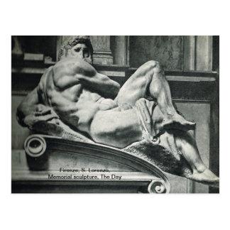 Firenze, S. Lorenzo, Memorial sculpturet, The Day Postcard