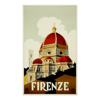 Firenze Travel Poster