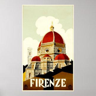 Firenze Travel Poster