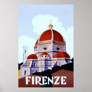 Firenze ~Vintage Italian Travel Poster.
