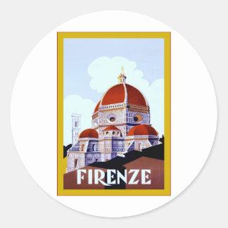 Firenze ~ Vintage Italian Travel Sticker