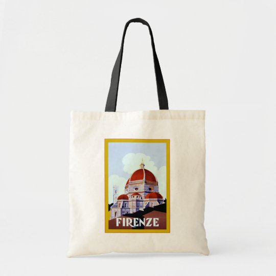 Firenze ~ Vintage Italian Travel Tote Bag