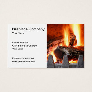 Fireplace Company Business Card