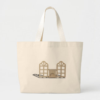 FireplaceArchedWindows101115.png Jumbo Tote Bag