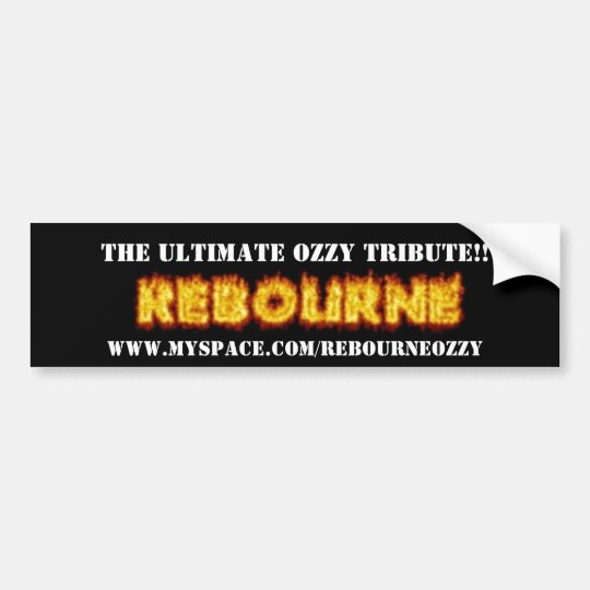 FIREREBOURNE, THE ULTIMATE OZZY TRIBUTE!!, WWW.... BUMPER STICKER