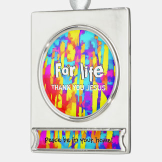 Fires And Passion One Silver Plated Banner Ornament