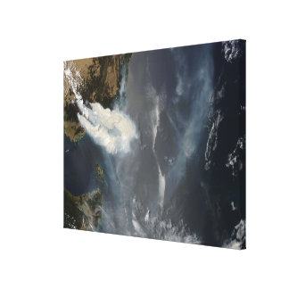 Fires and smoke in southeast Australia Canvas Print