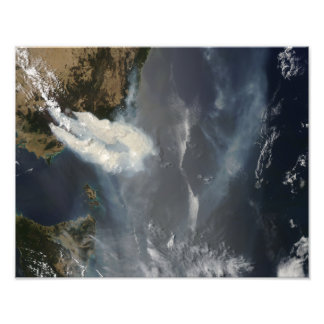 Fires and smoke in southeast Australia Photo Print