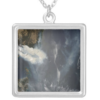 Fires and smoke in southeast Australia Silver Plated Necklace