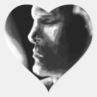 Fire's Eyes Heart Sticker