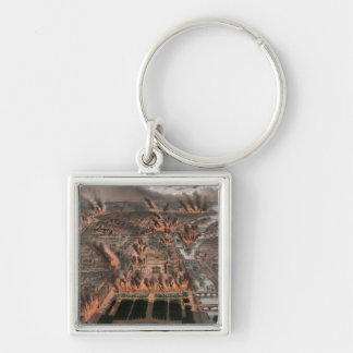 Fires in Paris, 24th-25th May 1871 Key Ring