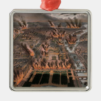 Fires in Paris, 24th-25th May 1871 Silver-Colored Square Decoration