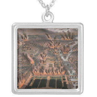 Fires in Paris, 24th-25th May 1871 Silver Plated Necklace