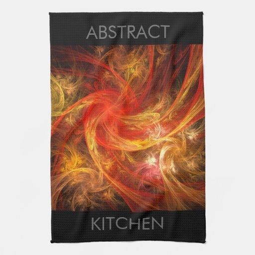 Firestorm Abstract Art Kitchen Towel | Zazzle