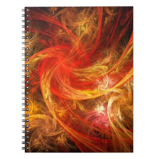 Firestorm Abstract Art Notebook