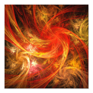 Firestorm Nova Abstract Art 13 Cm X 13 Cm Square Invitation Card
