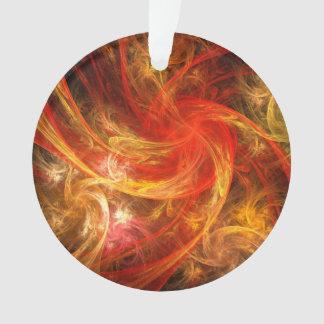 Firestorm Nova Abstract Art Acrylic Circle Ornament