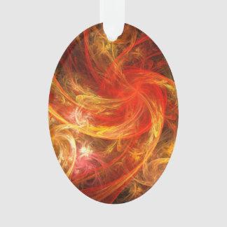 Firestorm Nova Abstract Art Acrylic Oval Ornament