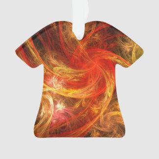 Firestorm Nova Abstract Art Acrylic Shirt Ornament