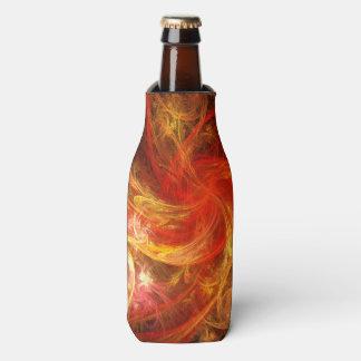 Firestorm Nova Abstract Art Bottle Cooler